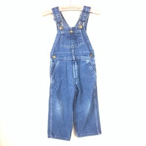 VTG OSH KOSH DARK WASH DENIM KIDS OVERALLS SIZE 3T